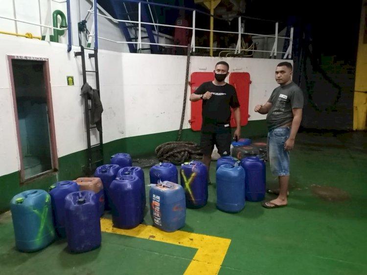 Polres Alor Gagalkan Penyelundupan Ratusan Liter Miras Jenis Sopi