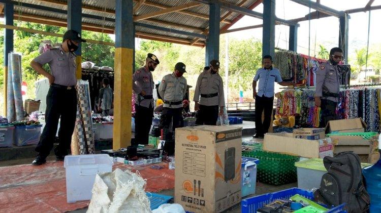 Polsek Alor Timur Melaksanakan Patroli dan Pengamanan Pasar