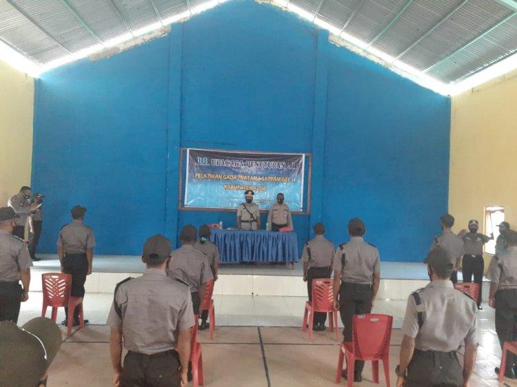 Waka Polres Alor Pimpin Upacara Penutupan Pelatihan Gada Pratama Satpam Gelombang I