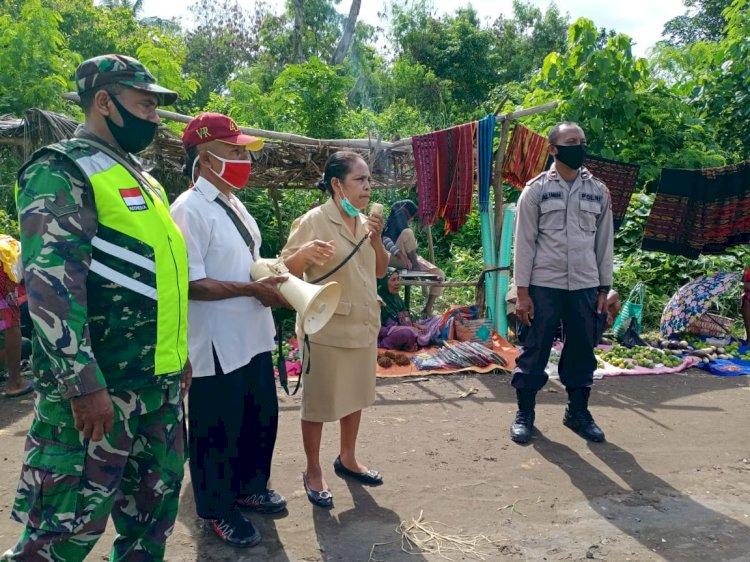 Cegah Penyebaran Covid-19, Polsek Pantar Barat Kembali Lakukan Himbauan Prokes
