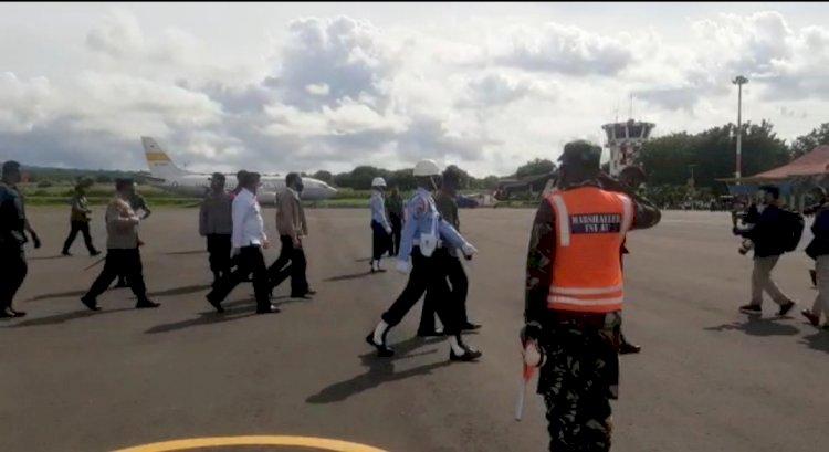 Kapolda NTT Bersama Pangdam IX/Udayana Dampingi Presiden RI Resmikan Bendungan Napun Gete di Sikka