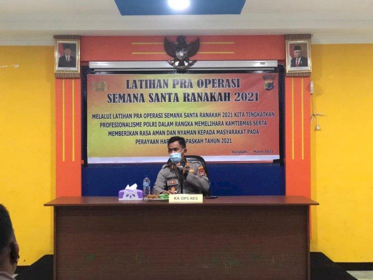 Jelang Paskah, Polres Alor Gelar Latihan Pra Operasi Semana Santa Ranakah 2021