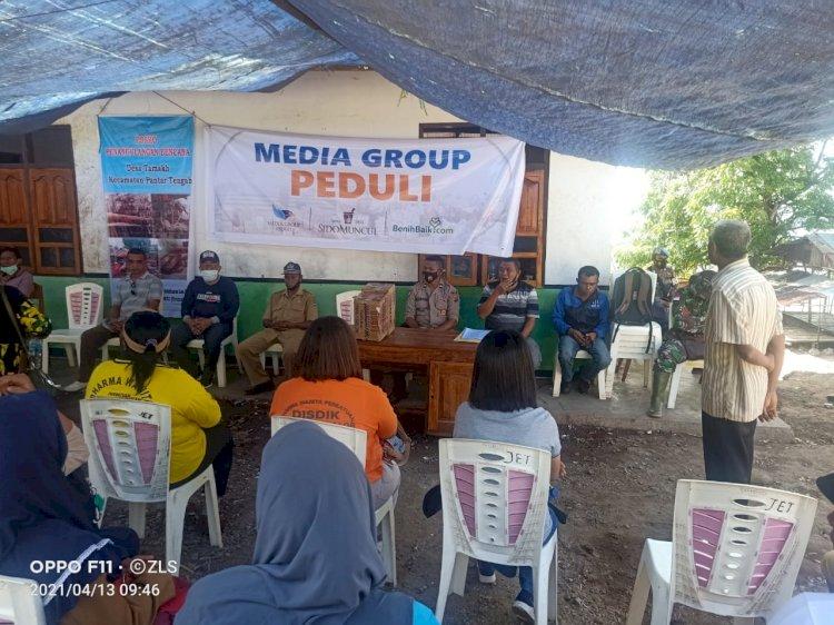 Personil Polsek Pantar Barat Bantu Pendistribusian Bantuan Sosial ke Posko Bencana Desa Tamakh