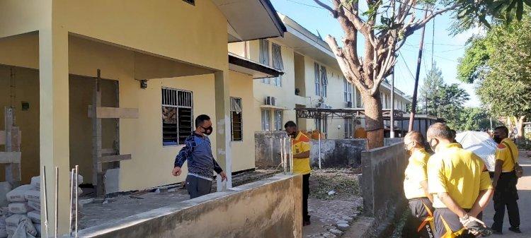 Kapolda NTT Lakukan Pengecekan Fisik Bangunan Mess Polwan dan Gudang beras serta Poliklinik