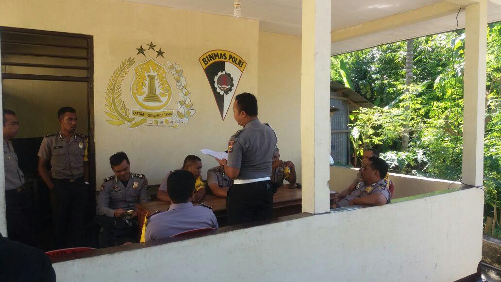 Kasie Propam Polres Alor Berkunjung Ke Pos Bhabinkamtibmas Teluk Mutiara