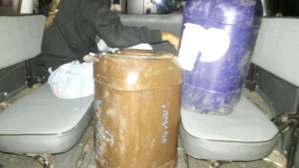 Dalam Rangka Operasi Pekat 2016 Polres Alor Amankan 50 Liter Miras Jenis Sopi