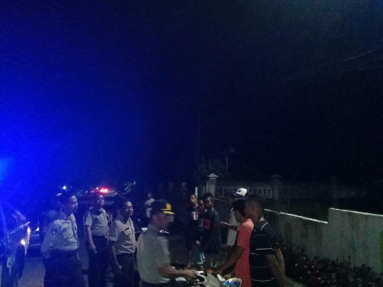 Antisipasi Gangguan Kamtibmas, Polres Alor Laksanakan Patroli Malam