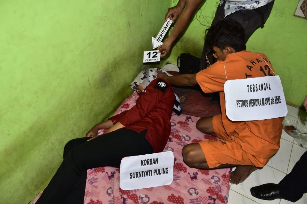 Sat Reskrim Polres Alor Lakukan Reka Ulang Kasus Pembunuhan