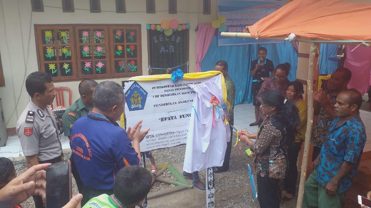 AIPDA Supriyadi hadiri Acara Peresmian Gedung PAUD Efata Fungafeng