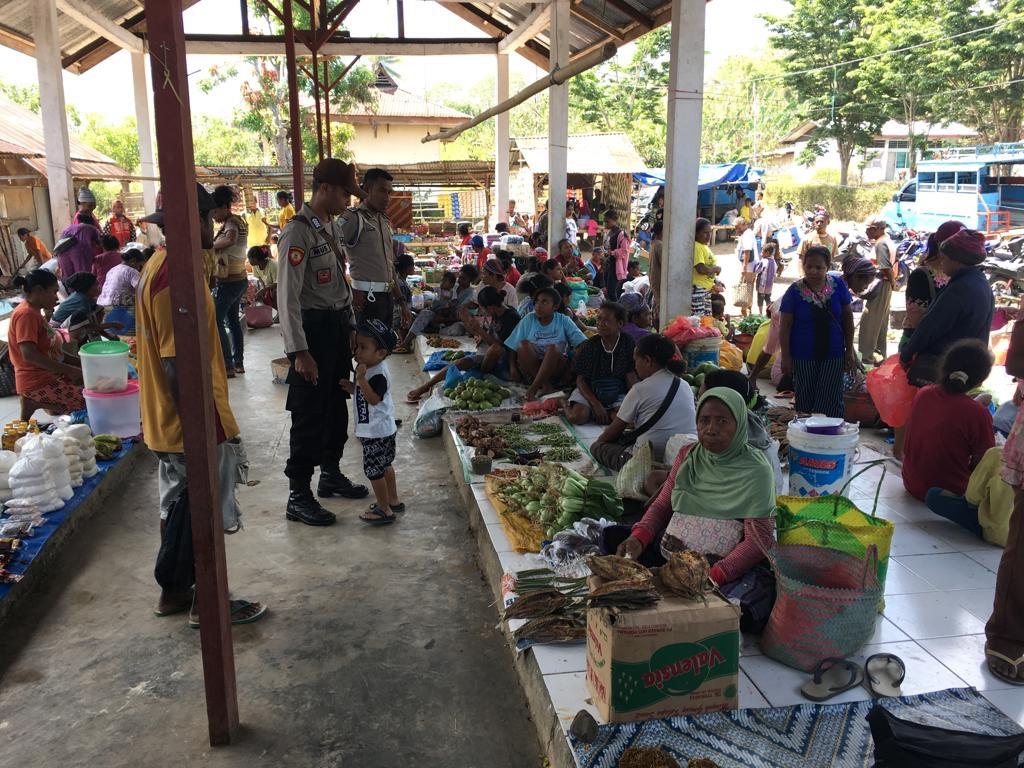Polsek Alor Selatan Laksanakan Patroli Dan Pengamanan Hari Pasar