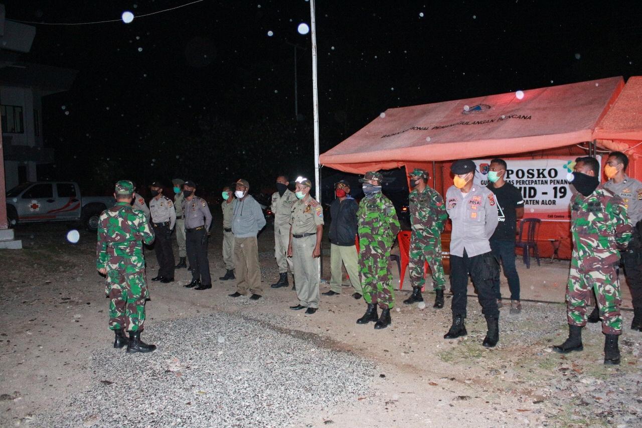 Gabungan Tim Satgas Cegah Covid – 19 Lakukan Patroli Malam